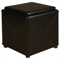 Have to have it. Lani Storage Square Leather Seat Ottoman $269.99