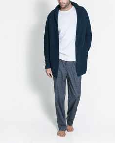 Homewear ~ Cardigan col smoking Men's Loungewear, Nbc Hannibal, Hobbs, Pjs, Lounge Wear, Smoking, Overalls, Zara, Lifestyle