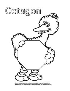 79 Best Sesame Street Coloring Pages for Kids - Updated 2018 Colouring Pages, Coloring Pages For Kids, Coloring Sheets, Sesame Street Coloring Pages, 1st Boy Birthday, Birthday Ideas, Printable Adult Coloring Pages, Jim Henson, Shapes