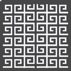 Greek Key Stencil 12x12 by HouseofDavis on Etsy