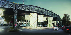 Modular Installation Provides Temporary Housing For Refugees Beneath Paris Bridge