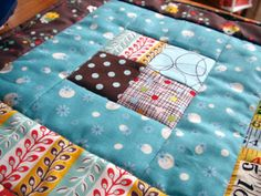 Easy lap quilt patterns free | easy lap quilt from Bend-the-Rules Sewing in Kona Bay prints and ...
