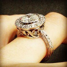 Diamonds and Gold Ring 3ct Diamond Ring, Diamonds And Gold, Class Ring, Vintage Inspired, Gold Rings, Instagram Posts, Jewelry, Jewlery, Jewerly