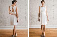 simple wedding dresses LWD for reception 1