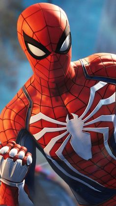 """""""This is the New and Improved Spiderman, highly designed for """"video-game features"""". Other than that, it's a New, Highly Developed Costume for Spiderman Fans everywhere. Ms Marvel, Marvel Comics, Marvel Heroes, Amazing Spiderman, Spiderman Kunst, Spider Man Amazing, Spiderman Spiderman, The Avengers, Die Rächer"""