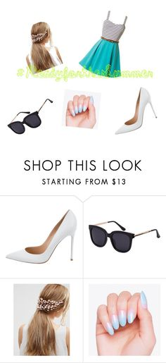"""#ReadyfortheSummer"" by puppypawswork22 on Polyvore featuring Gianvito Rossi, ASOS, Summer, cute and frilly"