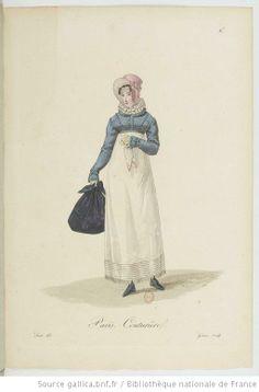 Couturière (Seamstress) from Georges-Jacques Gatine, Costumes d'ouvrières parisiennes, 1824, BNF Paris