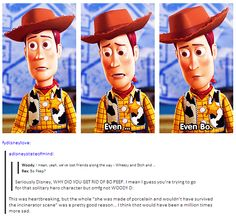It broke my heart the first time I watched this in the theater and Rex said that. The look on Woody's face... :'(