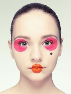 "How would you caption this?? ""Circular Makeup""? ""Geometric makeup""? Very avant garde...."