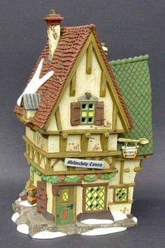 DEPT 56 DICKENS VILLAGE THE MELANCHOLY TAVERN 58347 CHRISTMAS CAROL RARE. This isomer and Brandon's favorite piece.