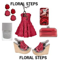 """""""Floral Steps"""" by mandimwpink ❤ liked on Polyvore featuring Jeffrey Campbell, Judith Leiber, Annoushka, Casetify, Nails Inc., Costarellos, Chanel, floral and steps"""