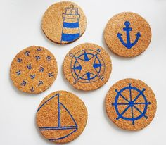 Deco Theme Marin, Deco Marine, Wedding Planner, Coasters, Crafts For Kids, Brewery, Inspiration, Blue Prints, Hipster Stuff