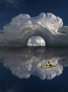 Beautiful Mother Nature This is truly a wonder of nature! It is breathtaking ! Looks like a tunnel thru the clouds. Image Nature, All Nature, Amazing Nature, Beautiful Moon, Beautiful World, Beautiful Places, Cool Pictures, Cool Photos, Beautiful Pictures