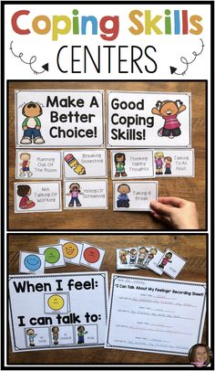 Coping Skills Activities For Social Emotional Learning and Counseling Centers Coping Skills Activities, Teaching Social Skills, Counseling Activities, Social Emotional Learning, Calming Activities, Learning Skills, Elementary Counseling, School Counselor, School Social Work