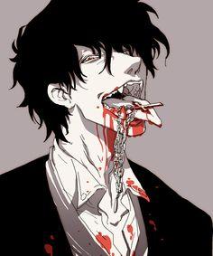 Bloody anime boy Hellsing