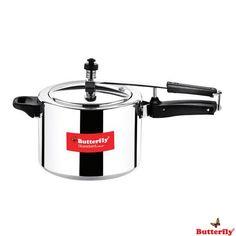Butterfly Standard Plus Inner Lid Aluminium Pressure Cooker, 5 Ltr