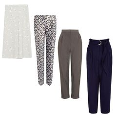 Pants in summer should be optional, but if you have to wear them, choose comfortable pairs with a fitted waist and a length that fits your body type. Joseph's paisley trousers pair well with oxfords, while Whistles' polished belted trouser elongates the torso.