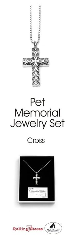 Mack and Mercie Pet Memorial (Cross, Small) Pet Memorial Jewelry, Hair Locks, Dog Items, Pet Life, Cross Designs, Pet Memorials, Beautiful Necklaces, Pet Supplies, Fill