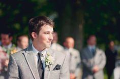 Real Wedding: Alex & Cassandra, the grooms first look!