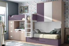 Bedroom Set Pink And Grey Bedroom Sets King Bed Furniture Kids Bedroom Designs, Kids Bedroom Sets, Bedroom Bed Design, Kids Bedroom Furniture, Kids Room Design, Small Room Bedroom, Modern Bedroom, Small Rooms, Bedroom Decor