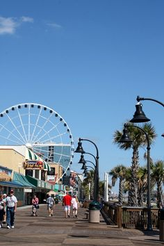 Next time we go to South Carolina, we have to go here!! Myrtle Beach Skywheel & Boardwalk