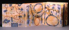 "Truly Bone by Karen Kunc.   1999  bookwork: letterpress, etching, spit bite  8 x 8"" (8 x 70"" unfolded)  poems by Hilda Raz"