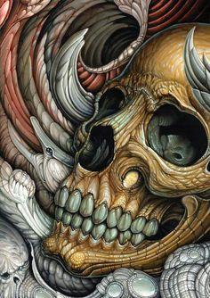 Skull art by Voss Fineart
