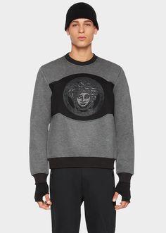 VERSACE Medusa Neoprene Patch Sweatshirt. #versace #cloth #medusa neoprene patch sweatshirt