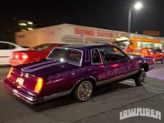 lowrider | Lowrider Street Cred South Central LA Custom Purple Lowrider