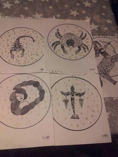 Stjernetegn - skorpionen, krebsen, jomfruen, skytten.