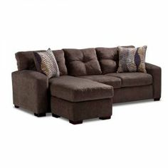 Hematite Sofa with Chaise—great way to have a sectional style sofa without the large sectional