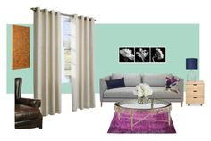 """""""Garden Living Room"""" by deena16 on Polyvore featuring interior, interiors, interior design, home, home decor, interior decorating, Jagger, Majestic Home Goods, Bluebellgray and Diane James"""
