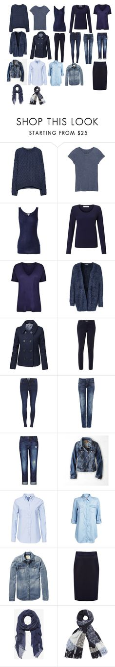 """""""Basic Blue Essentials"""" by shelleycrawford ❤ liked on Polyvore featuring MANGO, rag & bone, Clu, John Lewis, Gestuz, Soaked in Luxury, Fat Face, White Stuff, ONLY and City Chic"""
