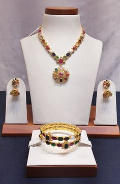 navratna necklace and bangles