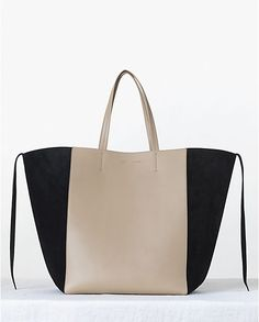 6305779b3baf Celine Beige Bicolor Phantom Cabas Tote bag - Fall 2013 Fashion Backpack