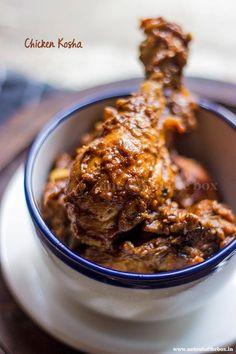 Chicken Kosha/Bengali style Spicy Chicken Curry