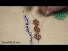 How to Bead Weave a Daisy Chain - YouTube