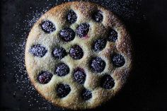 Olive Oil Ricotta Cake with Plums