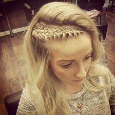 The side braid may be basic — so consider a slight twist by placing it on a diagonal and having a cool flip at your part. Headband Hairstyles, Pretty Hairstyles, Braided Hairstyles, Natural Hair Styles, Long Hair Styles, Festival Hair, Hair Game, Hair Dos, Gorgeous Hair