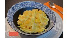 Salada de manga, maçã e iogurte