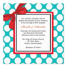 ReviewRed and Aqua Polka Dot Wedding Invitationso please read the important details before your purchasing anyway here is the best buy