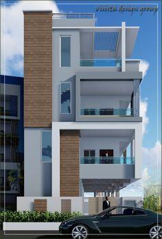 Small House Exteriors, Modern Exterior House Designs, Modern House Facades, Modern Bungalow House, Modern Villa Design, House Outer Design, House Outside Design, House Front Design, Small House Design