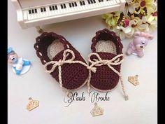 Zapatos mocasines clásicos tejidos a crochet  | parte 1/2 - YouTube
