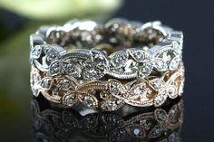 Diamond Leaf Wedding Bands - Krombholz Jewelers