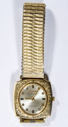 Lot 586: Bulova 10k Gold Filled Ambassador Self Winding Wrist Watch; 1966, serial # J264661 having a seventeen jewel Swiss movement