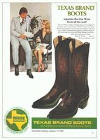Texas Western Boots 1979 Ad Picture