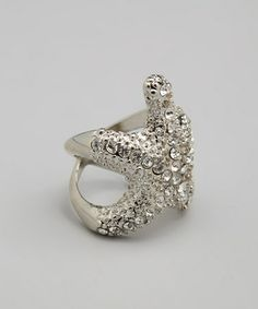 Another great find on #zulily! Silver Rhinestone Starfish Ring by ZAD #zulilyfinds