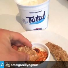 The Body Coach: Try these tasty peanut butter chicken dippers with @totalgreekyoghurt & Harissa paste #leanin15 #trytotal #Total+