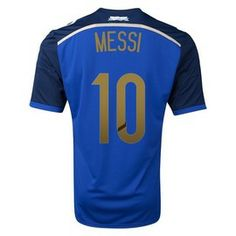 Lionel Messi Argentina 2014 FIFA World Cup Away Shirt