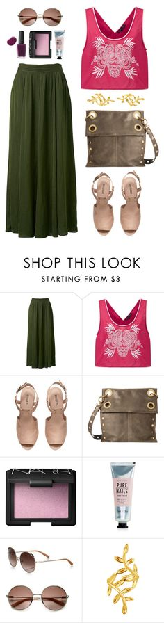 """""""Pink Dahlia"""" by snorkfroeken ❤ liked on Polyvore featuring Forever New, French Connection, H&M, Hammitt, NARS Cosmetics, New Look and Chloé"""